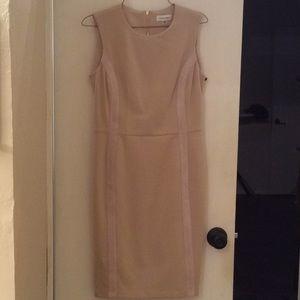 Calvin Klein faux suede dress